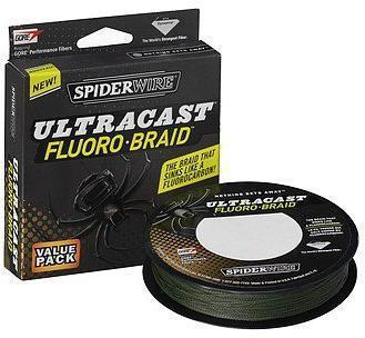 "Леска плет. ""SPIDERWIRE"" Ultracast FluoroBraid Green 0.18мм 110м 1236929"