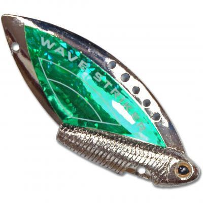 "Блесна ""KOSADAKA"" Wave Striker 7г Silver/Green"