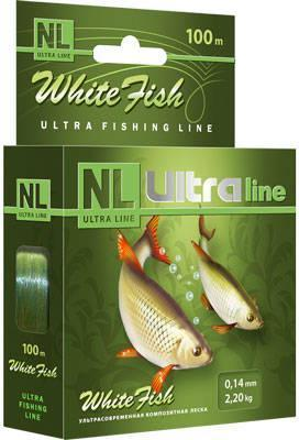 Леска Aqua NL Ultra White Fish белая рыба 0.20 100м