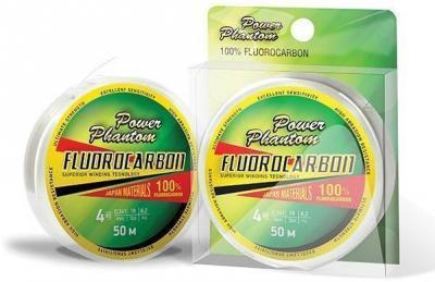 "Леска плет. ""POWER PHANTOM"" Fluorocarbon 0.12 50м"