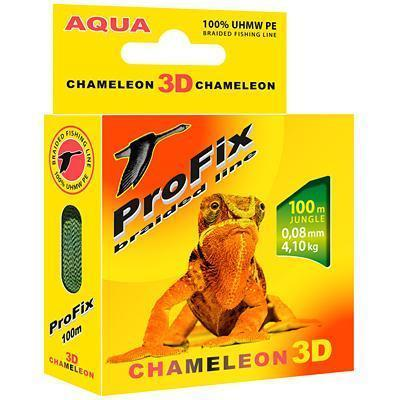 "Леска плет. ""AQUA"" ProFix Chameleon 3D Jungle 0.18 100м"