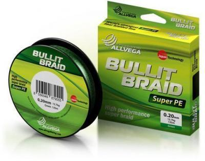 Леска плет. Allvega Bullit Braid dark green 0.18 135м
