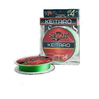 "Леска плет. ""SPRUT"" Keitaro Ultimate X 4 Neon Green 0.14 140м"