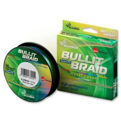 "Леска плет. ""ALLVEGA"" Bullit Braid multi color 0.08 150м"
