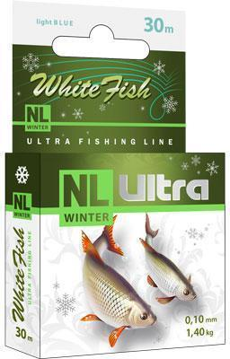 Леска зимняя NL ULTRA WHITE FISH (Белая рыба) 30m 0,14mm