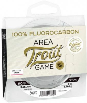 Леска Lucky John Area Trout Game Fluorocarbon Pink 0.23 75м