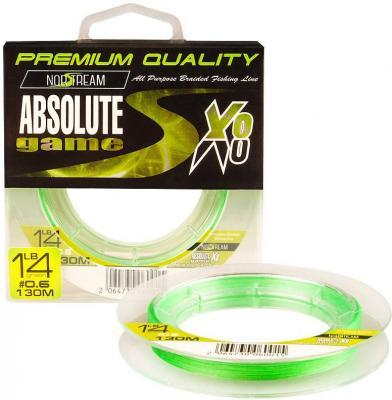 Леска плет. Norstream Absolute Game 8X #0.8 130м fluo light green
