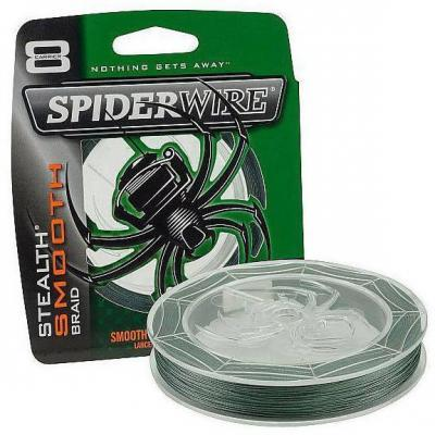 "Леска плет. ""SPIDERWIRE"" Stealth Smooth 8 Moss Green 0.35мм 150м 1422074"