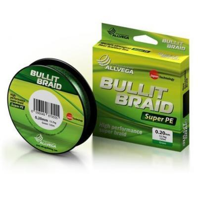 "Леска плет. ""ALLVEGA"" Bullit Braid dark green 0.12 270м"